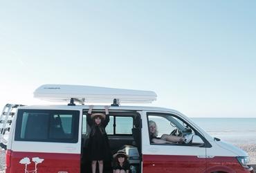 Camper sur la route de Normandie pour un week end